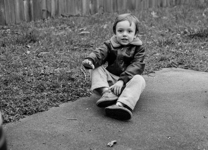 Full length portrait of cute boy