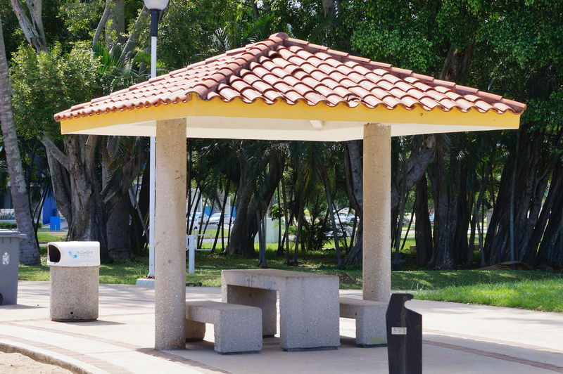 Architecture Built Structure No People Park Park - Man Made Space Sunlight Outdoors Formal Garden Land Day Nature Roof Tree Parque La Choca VillahermosaTabasco