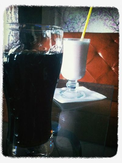 Cola and white coffee