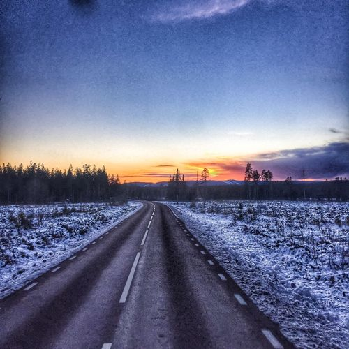 Pictureoftheday Taking Photos Eye Em Around The World North Trucking Winter On The Road Sweden Landscape_Collection HDR Collection Clouds And Sky Work Office