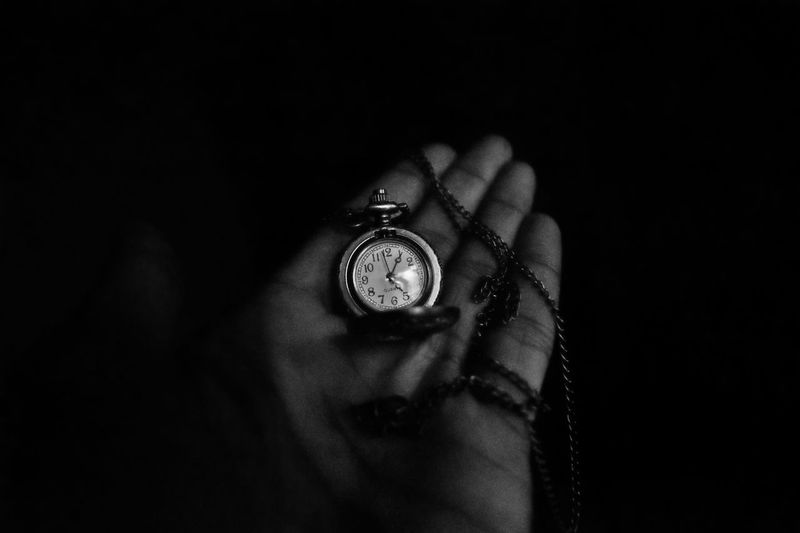 "GOD gave you a gift of 86,400 seconds today. Have you used one too say ""thank you""?? Balck And White Black Background Close-up Dark Eyeem Of Chennai Eyeem Of The Day EyeEm Of The Week EyeEm Vision Human Finger Leisure Activity Lifestyles Part Of PerciousMoments Personal Perspective Quartz Studio Shot Tadaa Community Time Time To Reflect Watch Watch The Clock"