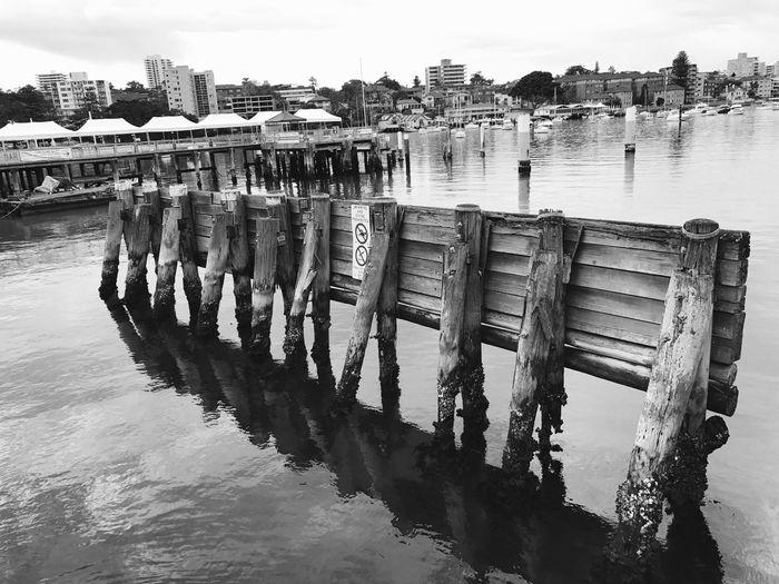 Pier On River Against Sky