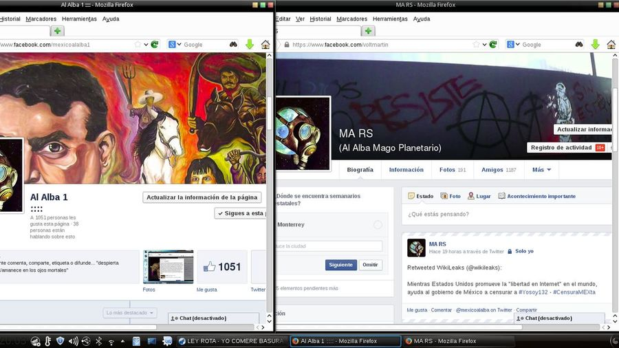 network is the way, ourselves we are the revolution... Please add me..... working on Facebook ... Linux Linuxrules! Nosinfiltramosnoslevantamos usinfiltrateusuprise