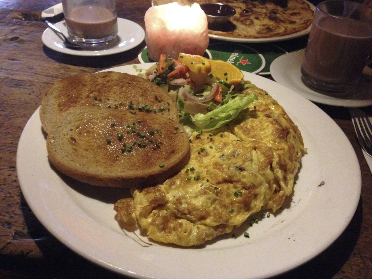plate, food and drink, food, table, healthy eating, freshness, ready-to-eat, indoors, breakfast, bread, no people, serving size, meal, close-up, omelet, day