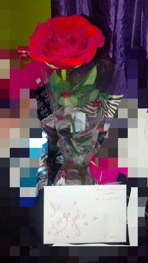I love it when he show up home with a rose & love card for no special date he just randomly sweet(: i <3 mi pato