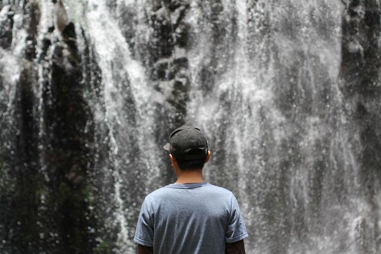 Curug aseupan, one of the names of waterfalls in bandung, indonesia