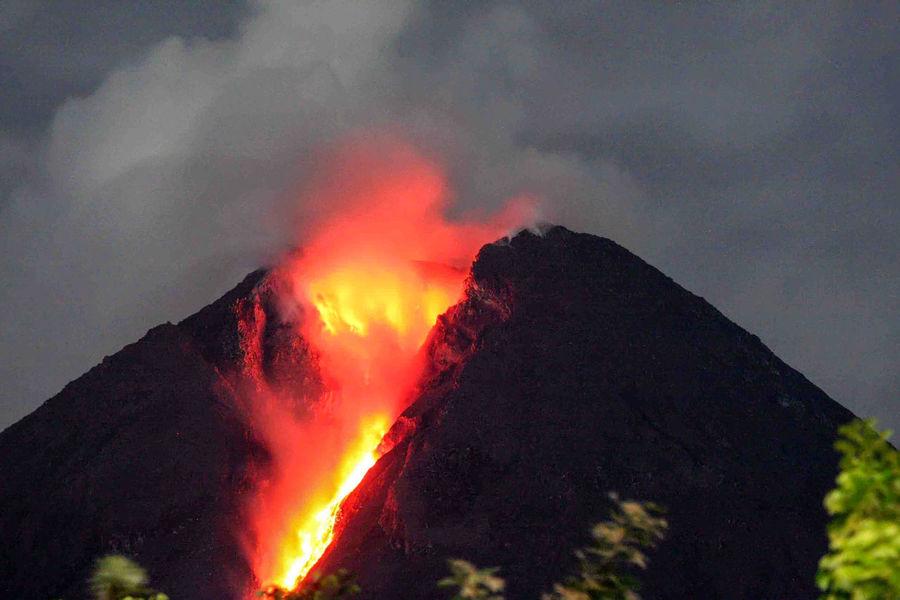 Mount Merapi eruption seen from Deles Village, Klaten, Central Java, Indonesia on November 02, 2010. Volcano Mount Today's Hot Look Nature