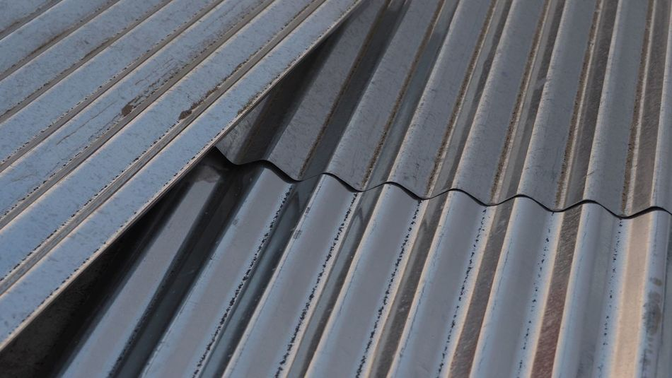 Composition with corrugated iron Pattern Metal No People Close-up Corrugated Iron Backgrounds Full Frame Metal Work Olympus OM-D E-M1 Mark II Structures & Lines Abstract Roof Structure Wellblech Architecture