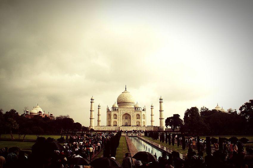 First Eyeem Photo This Is India! <3 Taj Mahal Croudy