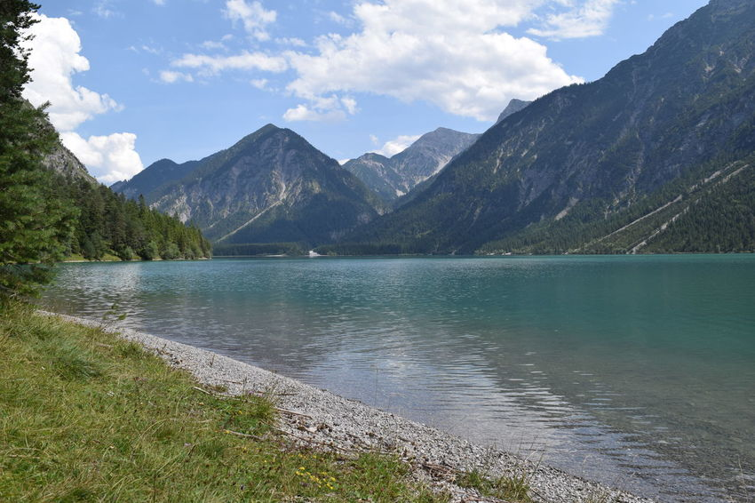 Beauty In Nature Blue Cloud - Sky Day Freshness Lake Landscape Mountain Nature No People Outdoors Reflection Sky Water