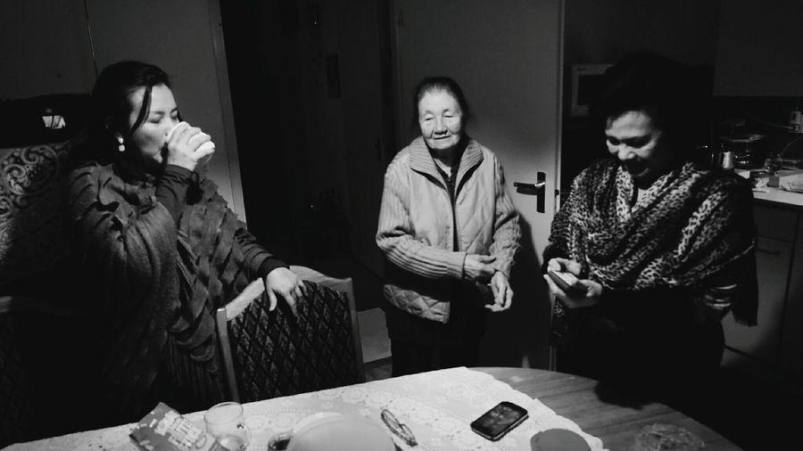 Three ladies.