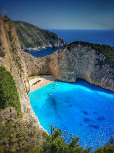 Navagio Beach Shipwreck Cove on Zakynthos Island Greece Travel Tourism Tourist Attraction  Ionian Sea Zante Vacation Holiday Beaches Europe Greek Islands Boat Trip Summer Cliffs Landscape Greek Beach Travel Destinations Shipwreck Cove