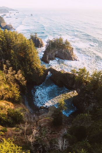 Natural Bridges IG @noeldxng Oregon Aerial View Drone  Sun Sunset Rock Formation Cliff Birds Eye View Nature View From Above Sea Brookings Oregon Sky Close-up Landscape Coast Horizon Over Water Ocean Wave Surf Seascape Tide Crashing
