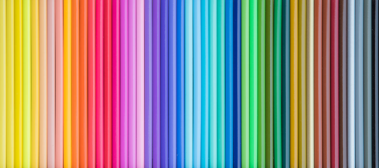 Colored Pencil Sets Abstract Art Backgrounds Color Chart Colorful Creativity Drawing Drawing Tools Multi Colored Pattern Pencils Prismacolor Rainbow Colors Striped Pattern View From Above