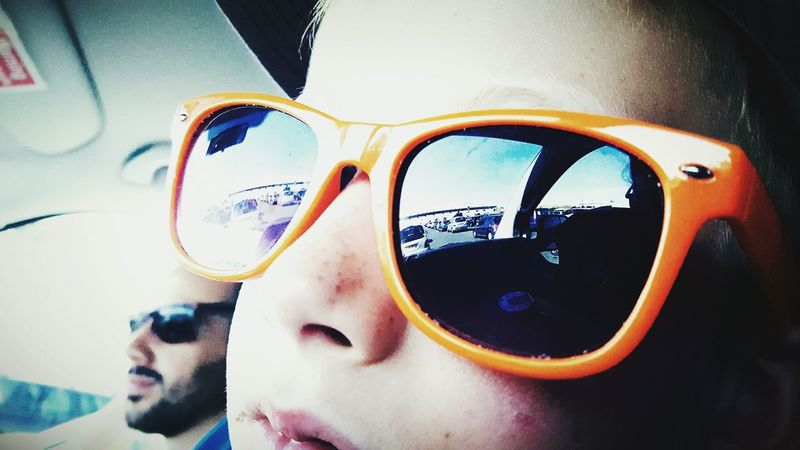 This Is Summer day 27. Sunglasses Orange On The Road Homeward Bound Reflection