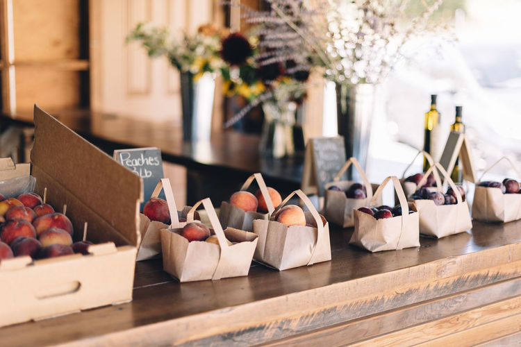 wedding day. good food. freshness Close-up Day Farm Stand For Sale Fresh Freshness Fruit Stand Fruits Healthy Healty Food Indoors  Life Style No People Olive Oil Peach Retail  Table Variation Small Business Heroes