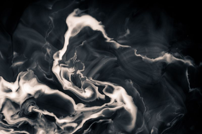 Brownian Motion Chaos Theory Coffee Java Joe Physics Abstract Black Background Black Color Changing Form Close-up Cream Ethereal Flowing Motion No People Pattern Swirl Whirl Whirlpool