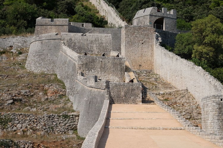 View of fort against the wall