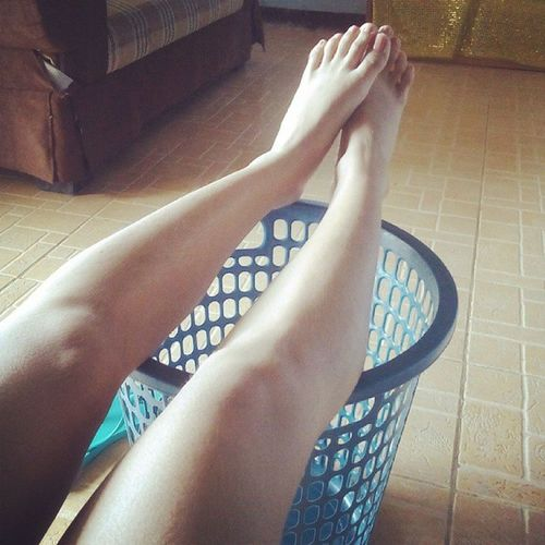 Whoa! This empty basket makes me tired! Yey! Now I'm relaxing ? Donewashingmyclothes Donecleaningthehouse What 'snextGotoschool whatagreatandbusyday