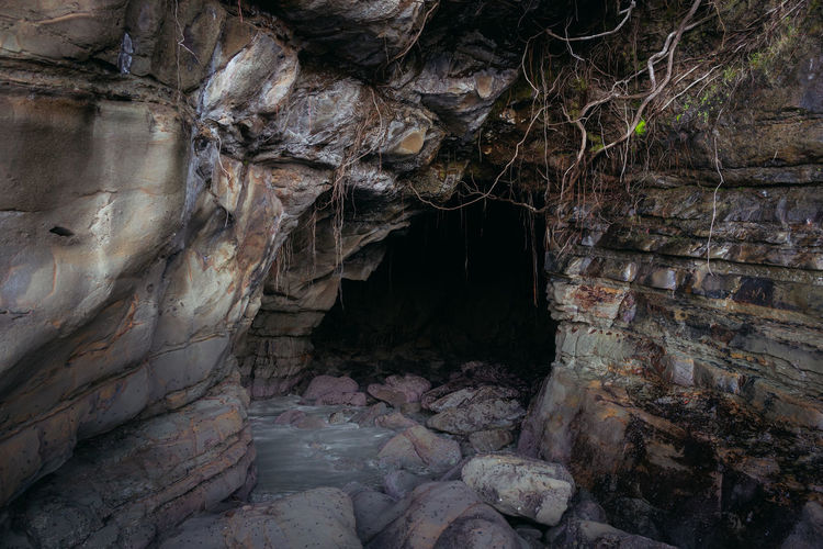 Rock formation in cave
