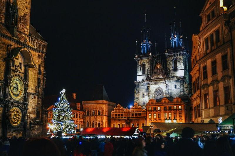 Praha Prague Česká Republika Czech Republic NewYear Christmastime Chrisrmas City Night Travel