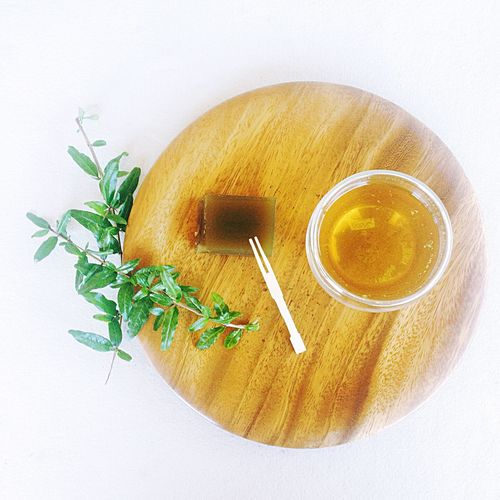 Loose Leaf Green Tea and Matcha Yokan Bright Green Japanese  Snacking Healthy