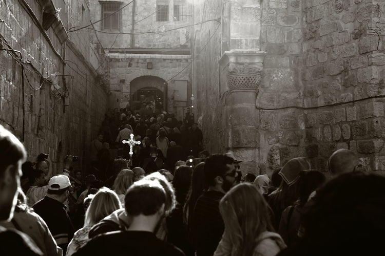 Judaism Christianity Jerusalem Holy Place Holy Land Procession Processions Of Easter Ancient City Faithful Faith And Believe Faith Belief Jesus Christ Travel Destinations Large Group Of People Tourism Travel Destinaton
