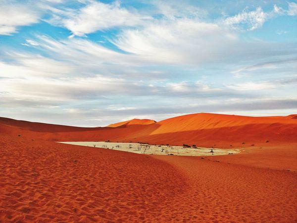 EyeEmNewHere Namibia Landscape Namibia Desert Africa Deadvlei Dunes Reddesert EyeEm Selects Sand Dune Desert Arid Climate Red Sand Sky Landscape Cloud - Sky