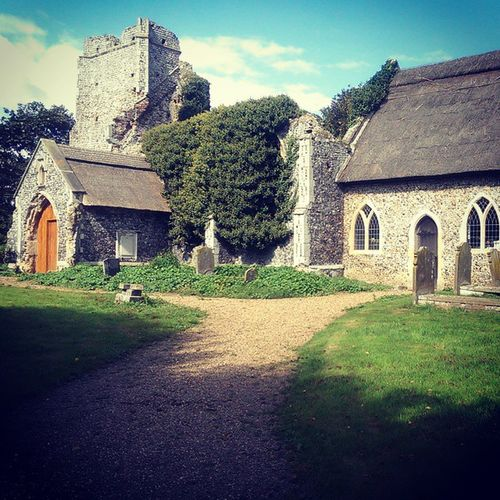 Billockby Allsaints Allsaintsbillockby Church ruins churchruins billockbychurch path shadow tower ivy overgrown history