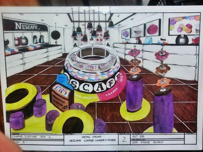 Interior plate Proud Interior Design Nescafe Retailstore