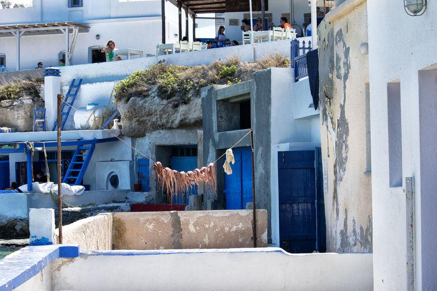 Milos Island Relaxing Vacations Blueandwhite Day Eat Greece Summer Tavern