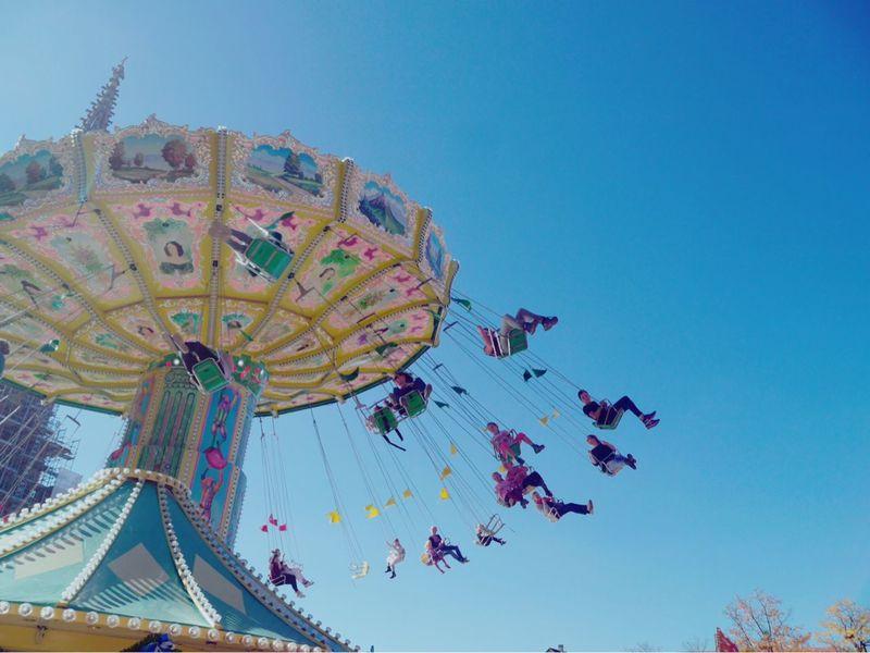 amusement park Amusement Park Colorful Festival Sky 外国 海外 遊園地 ブランコ 空 ドイツ ミュンヘン