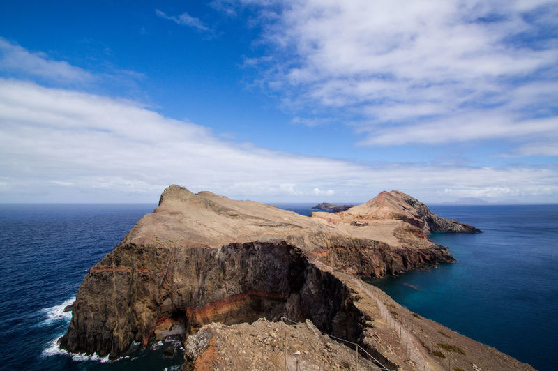 The most Easterly point of Madeira Island Atlantic Atlantic Ocean Cliff Coast Coastline Madeira Outdoors Peninsula Portugal Sardine Sea Sky Trail Waves
