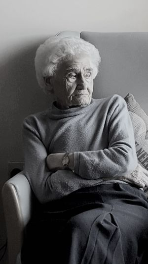Grandma. #Grandma #Family #Sisters #Brothers #Memories #sadness #Thoughtful #OldButNewToEyeEm #oldwoman #woman #photography Adults Only One Person People Adult Bizarre Portrait Indoors  Sitting