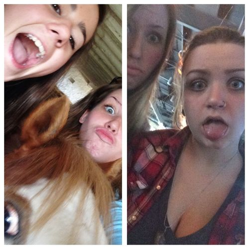 Cause it's national best friend day and these two are what keep me sane Nationalbestfriendday LoveThem  Crazygirls Sistersfromanothermother Teens Girls Weirdfaces