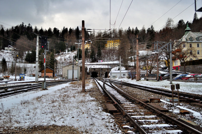 Cold Temperature No People Rail Transportation Railroad Track Railway Track Snow Train - Vehicle Transportation Winter