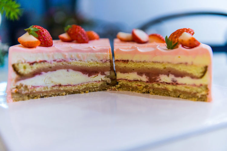 Close-up of cake on plate