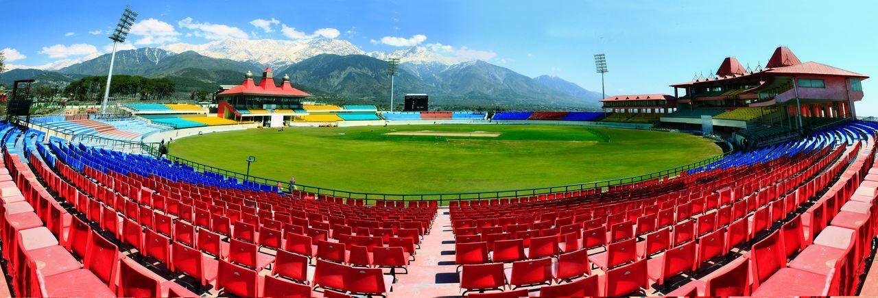 Stadium Outdoors Dharamshala , Himachal Pradesh, India Dharamshala Stadium Cricket Ground Cricketfever Cricket Field Cricket Stadium