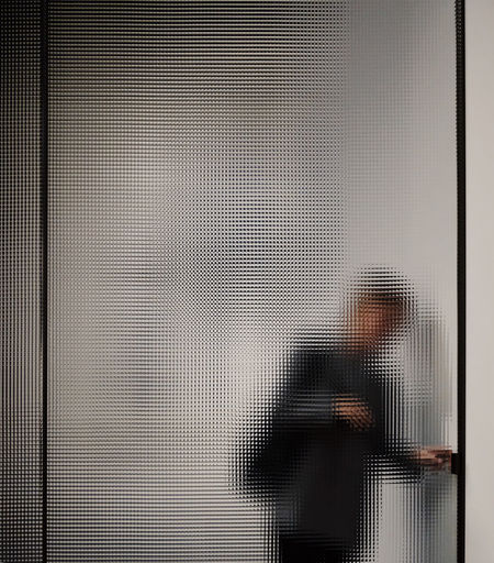 Person Standing Against Door
