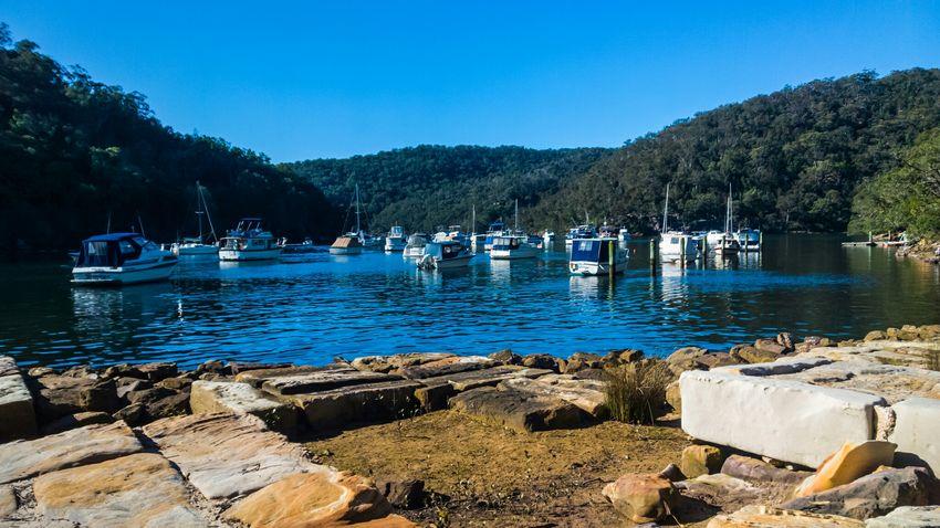 Boats docked at Apple Tree Bay, Cowan Creek, Berowra, Sydney. Lumia930