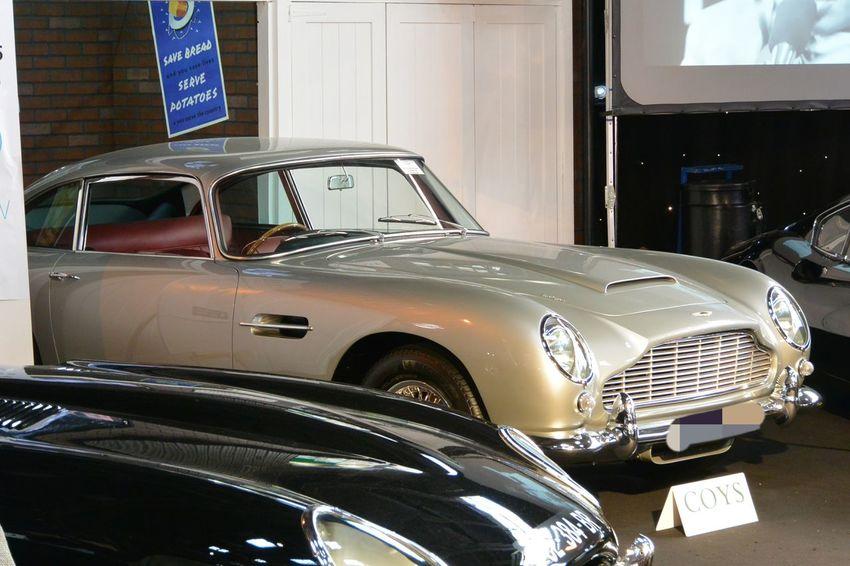 Aluminium Aston Martin Aston Martin Db5 British Car Car Collector's Car Grey Color Indoors  Paris International Motor Show 2016