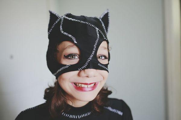 Portrait Headshot Smiling One Woman Only Catwoman CatWomen Catwomanmakeup BlueEyes Blueeyedgirl Blueeyesgirl Fantasy Art Fantasy Photography