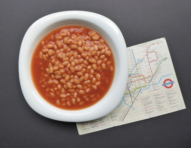 Backed Beans Backed Beans & London Tube Map Close-up EyeEm LOST IN London Food And Drink Freshness London Underground Map Of Tube System No People
