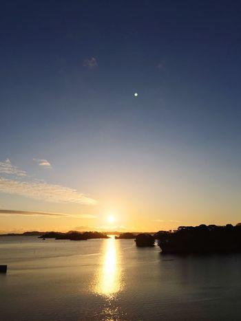 Sunset Beauty In Nature Scenics Nature Sun Moon Tranquil Scene