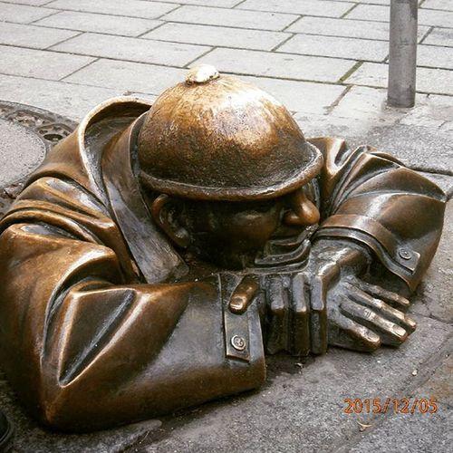 Pozsony Bratislava Statue Mik Trip Bronze Bronzestatue
