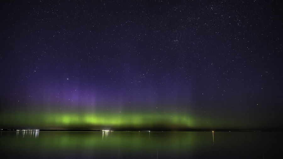 Astronomy Aurora Polaris Beauty In Nature Galaxy Green Color Idyllic Illuminated Lake Milky Way Night No People Non-urban Scene Outdoors Polarlicht Scenics - Nature Sky Space Space And Astronomy Star Star - Space Star Field Tranquil Scene Tranquility Water