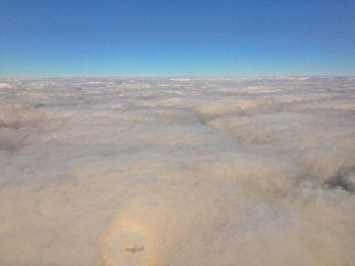 雲海撮ってたら、偶然、飛行機の影とブロッケン現象写ってた(*^^*) Clouds And Sky Clouds Cloud Sea (雲海) Cloudland Cloud - Sky Brocken Spectre Airplane Shadow Glory Glory_(optical_phenomenon) Showcase: January https://en.m.wikipedia.org/wiki/Glory_(optical_phenomenon)