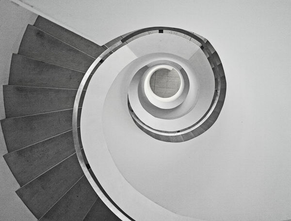 Architecture_bw Architecture_collection Blackandwhite Fortheloveofblackandwhite From My Point Of View Looking Down Monochrome Spiral Staircase
