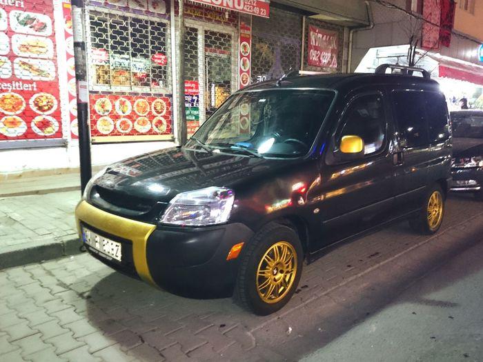 Cars Peugeot Partner Gold & Black Istanbul Night Arabam Evlat Ateş Ediyor