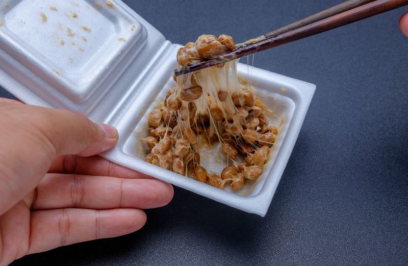 Breakfast Chopsticks Fermentation Fermented Food Food And Drink Freshness Healthy Eating Holding Human Body Part Human Hand Japanese Food One Person One Woman Only Only Women People Picking Up Ready-to-eat Soy Soybean WASHOKU